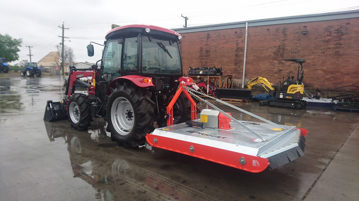 Case IH Farmall 60B Cab with Front End Loader and Slasher